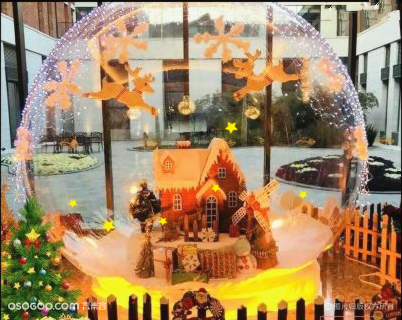 圣诞水晶球 充气圣诞雪花水晶球