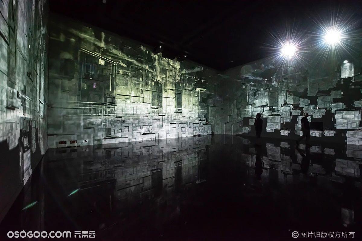 一个潜艇基地打造的巨大数字艺术中心