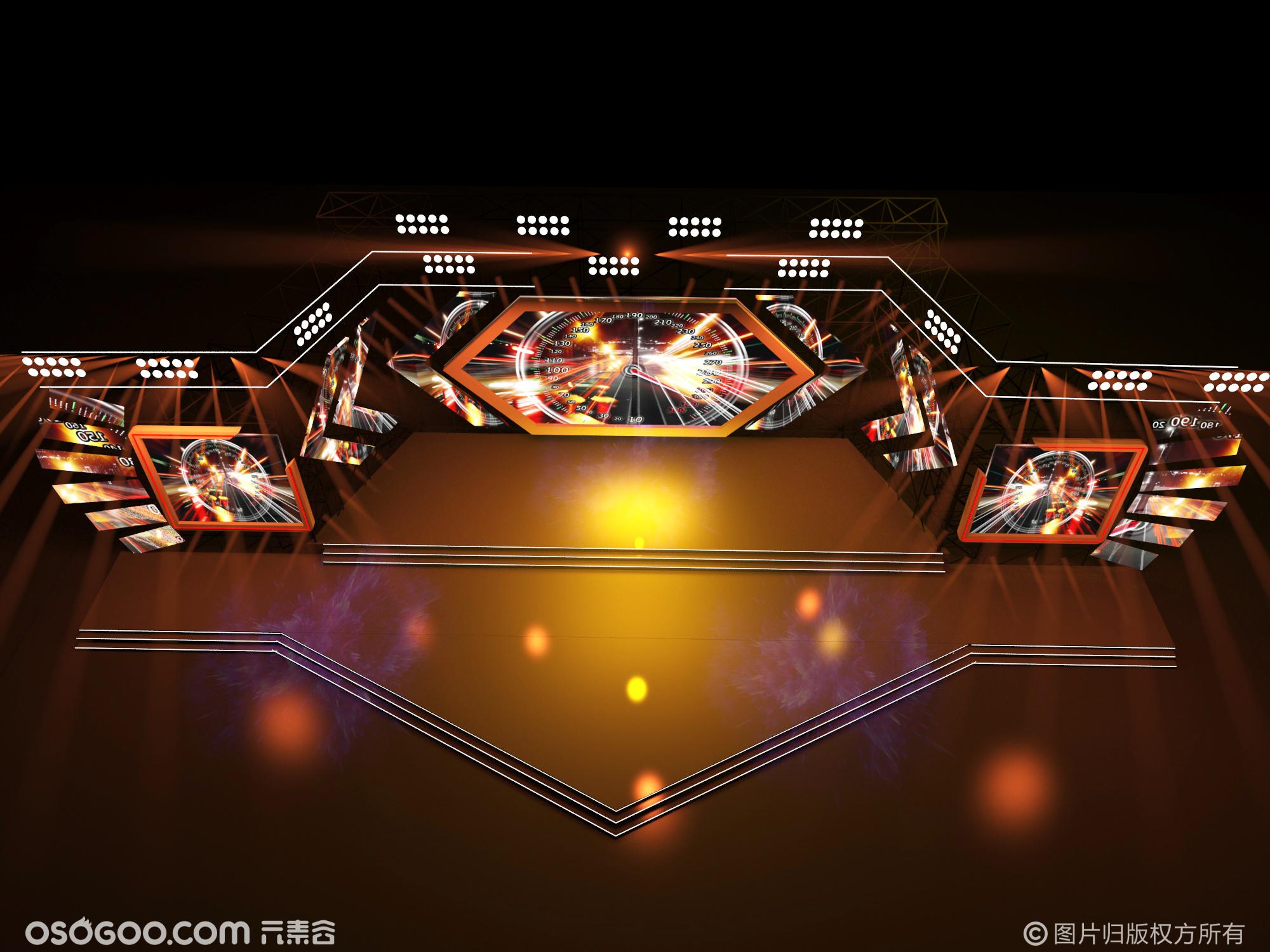 3D设计效果图▪科技回溯大会舞台舞美设计