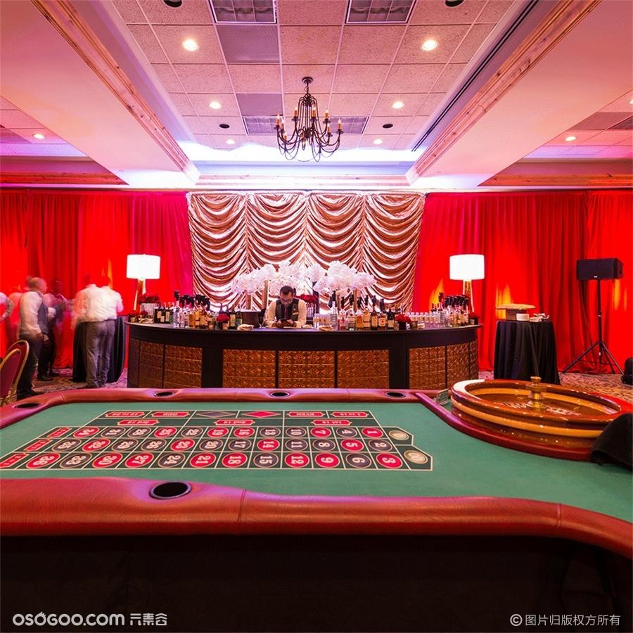 老拉斯维加斯风格的赌场之夜派对