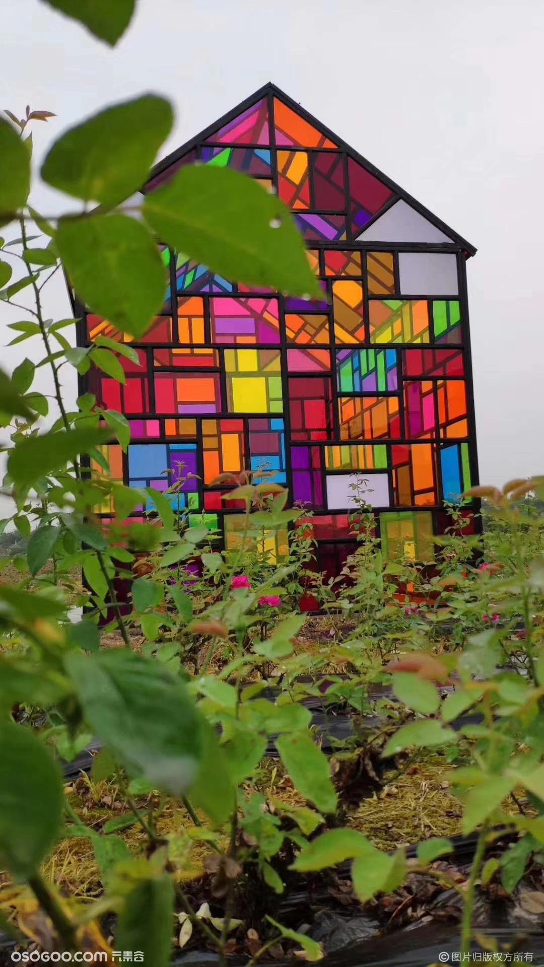 七彩小屋租赁彩色房子彩色玻璃屋