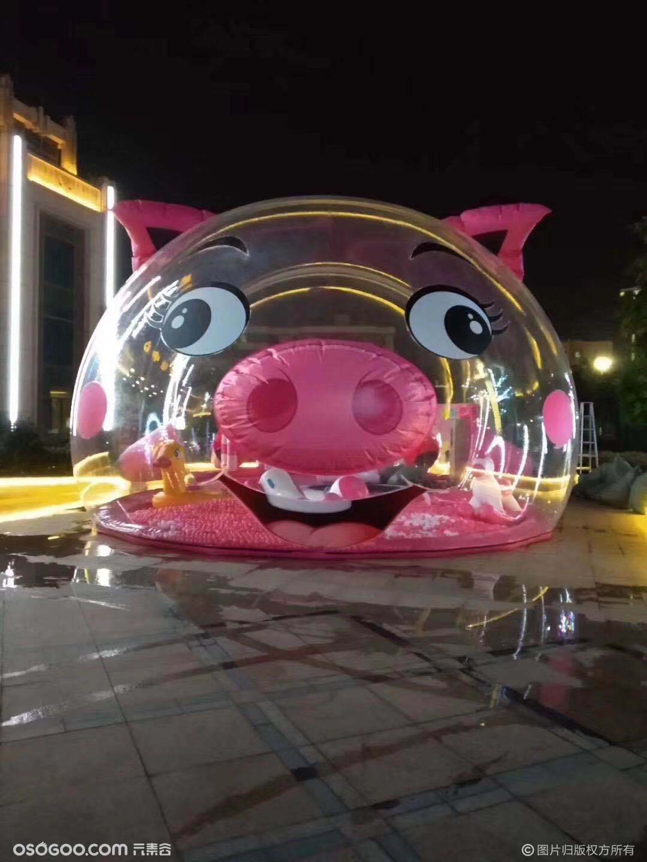 猪猪乐园儿童暖场猪猪气模设备出租猪猪岛出租