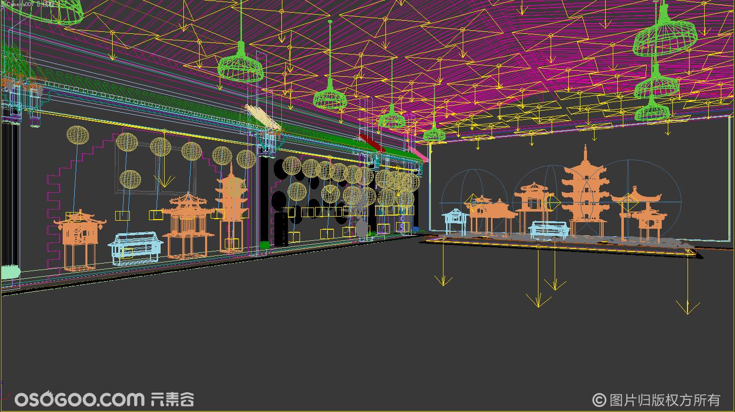 古建筑展示展厅设计 古风设计