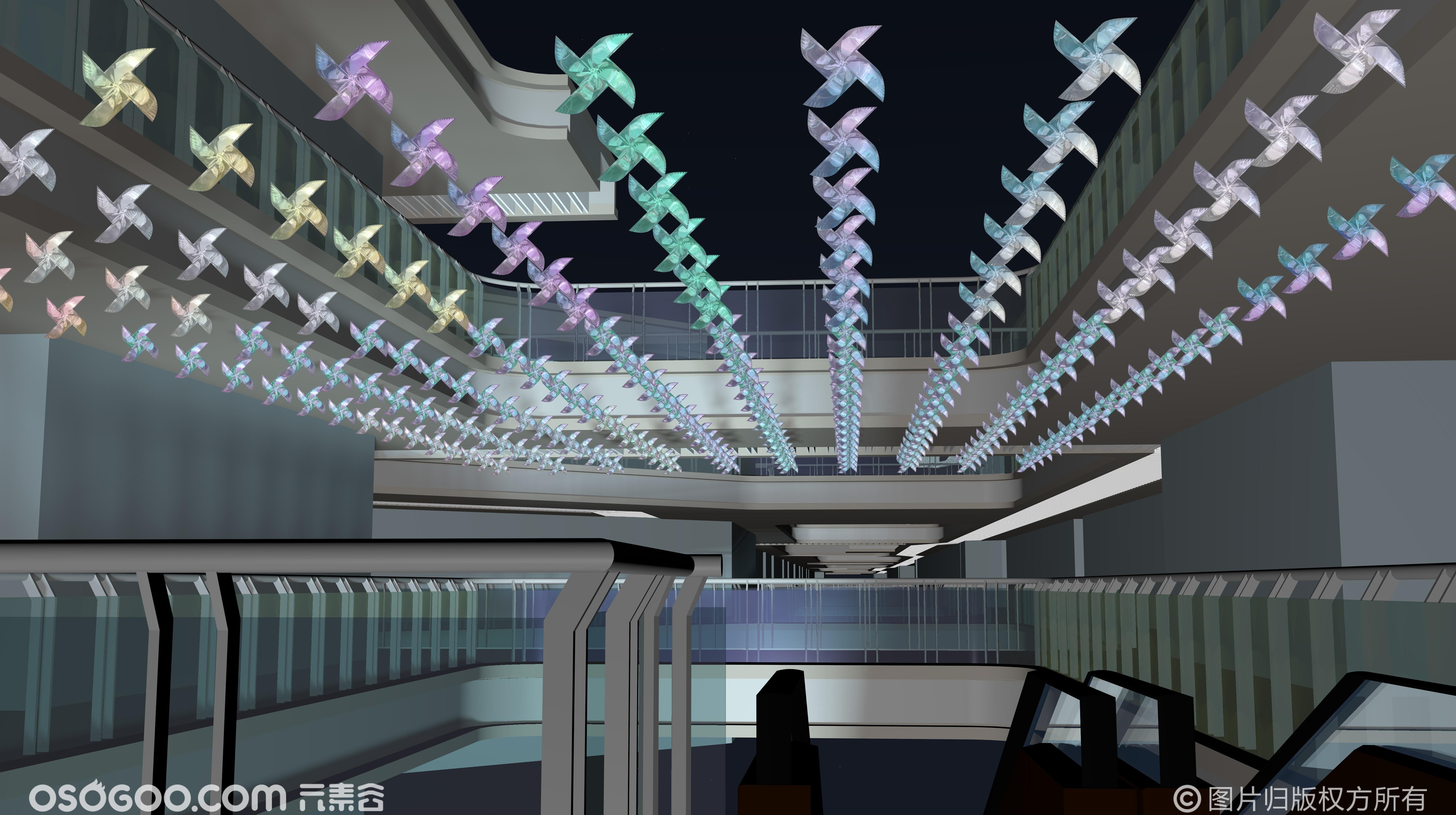 商业街区吊饰灯饰设计-四季轮回
