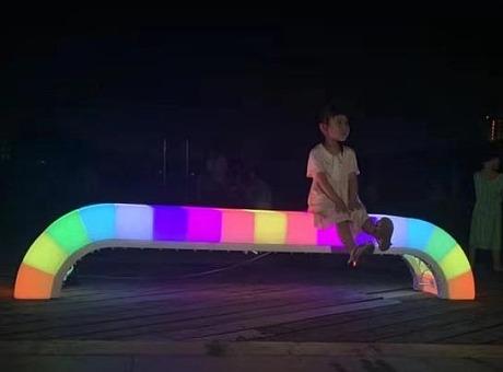 会发光的互动公共座椅脉冲座椅厂家现货供应