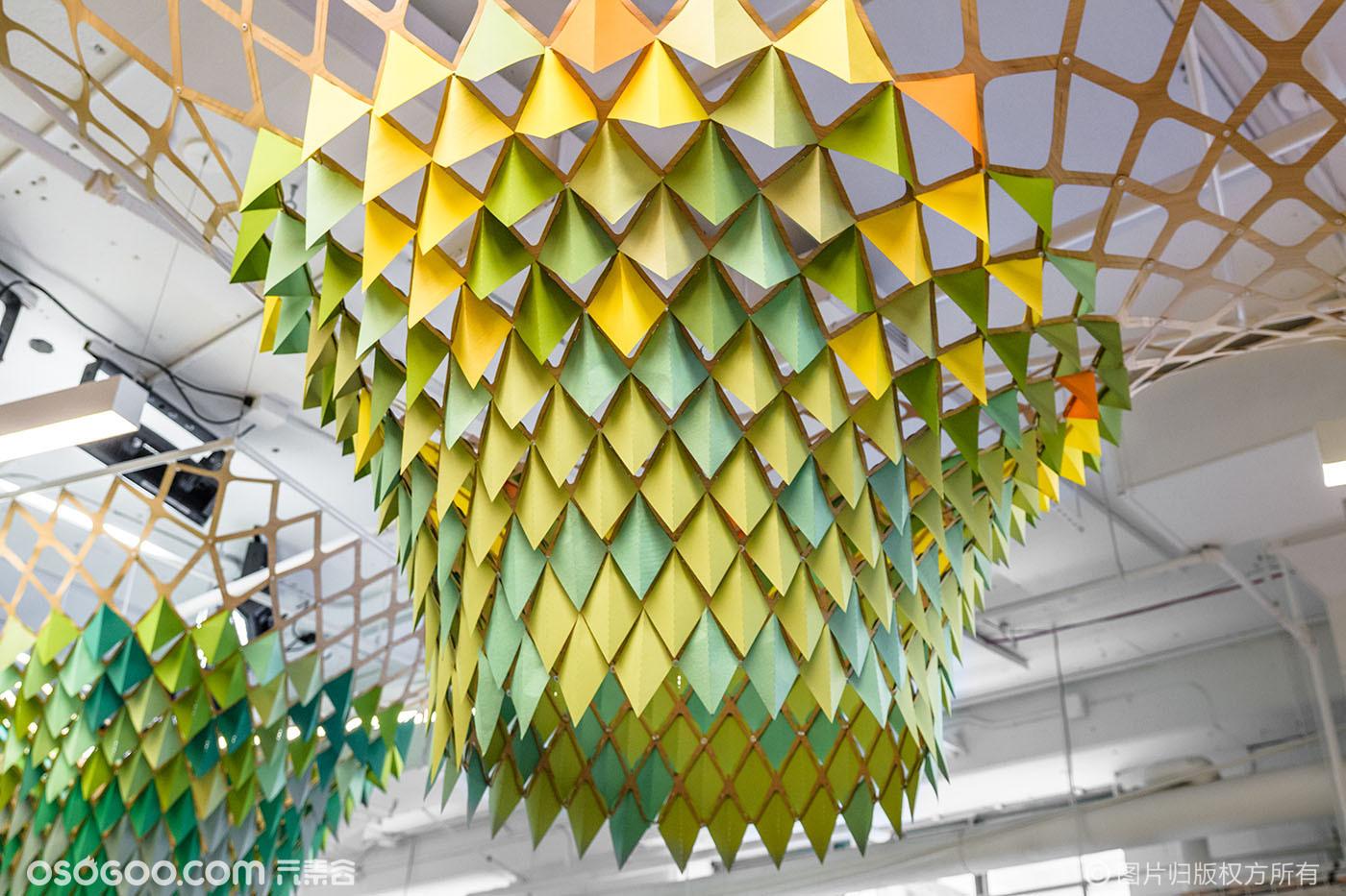 环保材料折纸也可以这么壮观