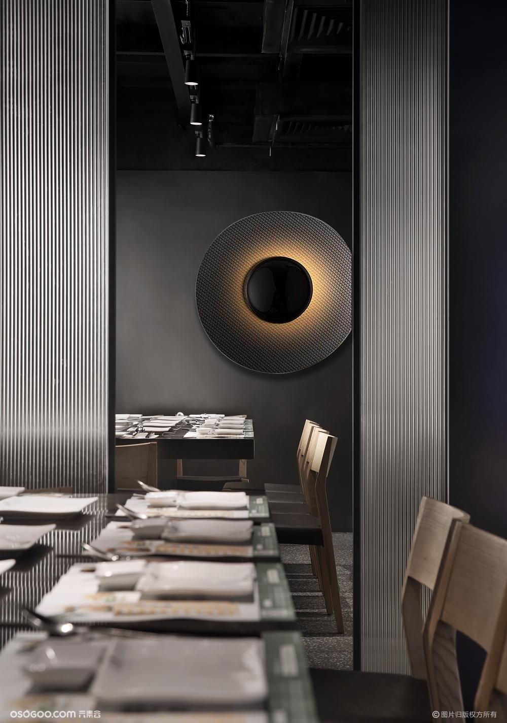 深圳这家日式铁板烧餐厅设计,10分新颖,很大渔!